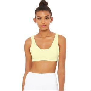 Alo Yoga Ambient Sports Bra Citrine Yellow Small